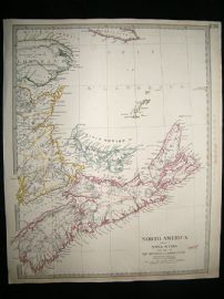 Canada, Nova Scotia & Prince Edward Islands: 1832 Antique Map. SDUK